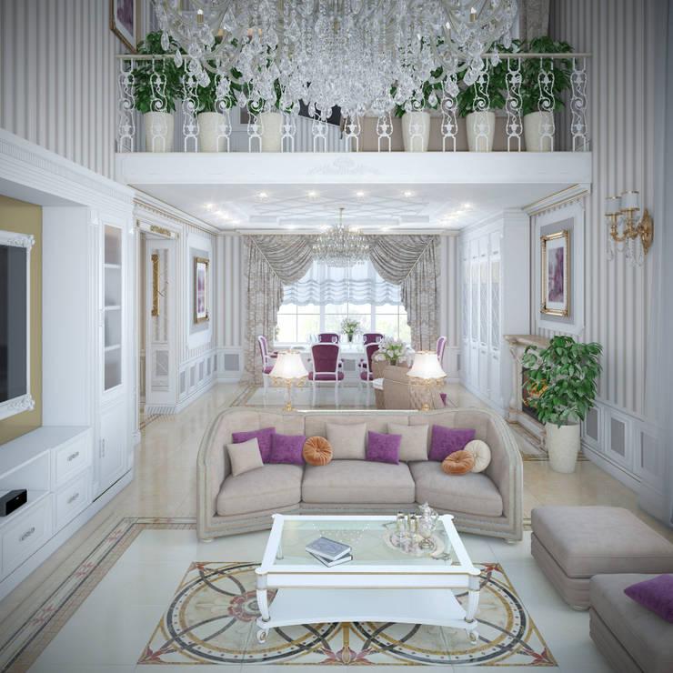 Projekty,  Salon zaprojektowane przez Студия Дизайна Интерьера MALGRIM