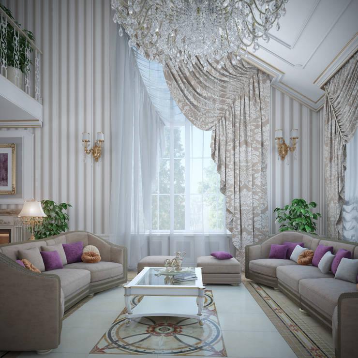 Living room by Студия Дизайна Интерьера MALGRIM