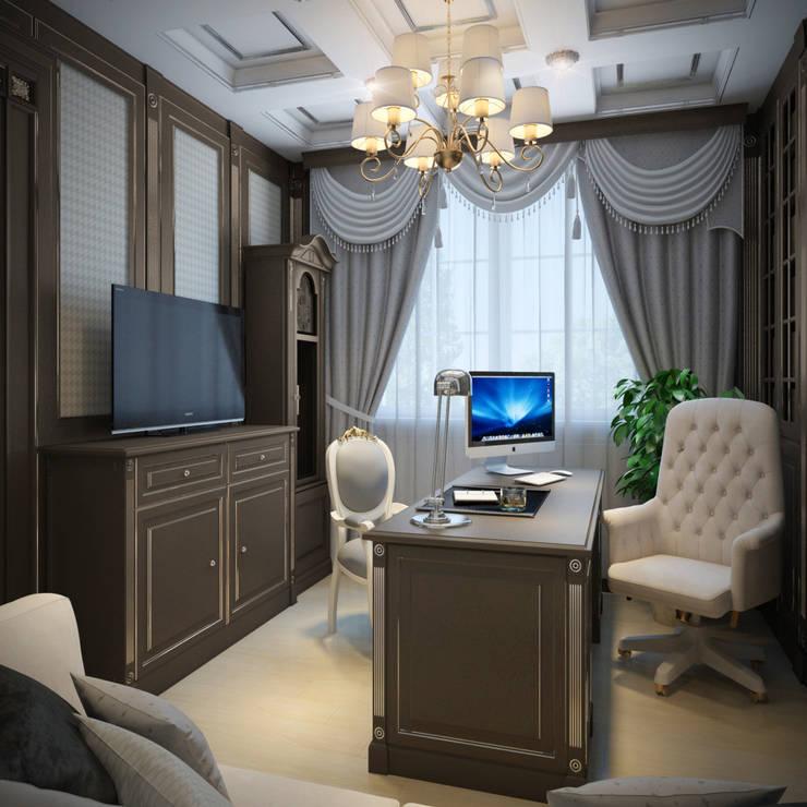 Projekty,  Domowe biuro i gabinet zaprojektowane przez Студия Дизайна Интерьера MALGRIM