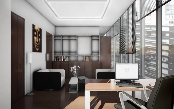 OFICINAS SANTA FE: Oficinas y tiendas de estilo  por gOO Arquitectos