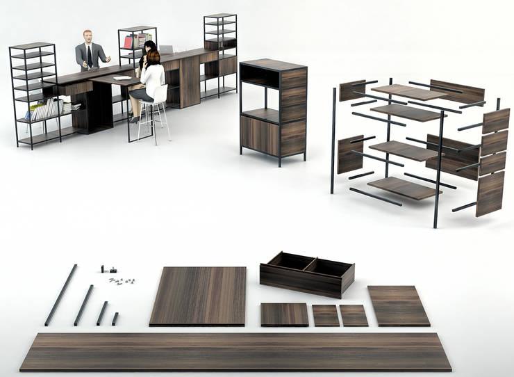 Seyit Ali GÜZEL – QUA Ofis Mobilyası:  tarz Ofis Alanları & Mağazalar