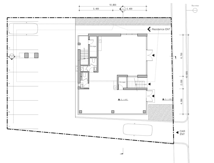 1층평면도[상가]: 더그라운드 건축 The ground Architects의