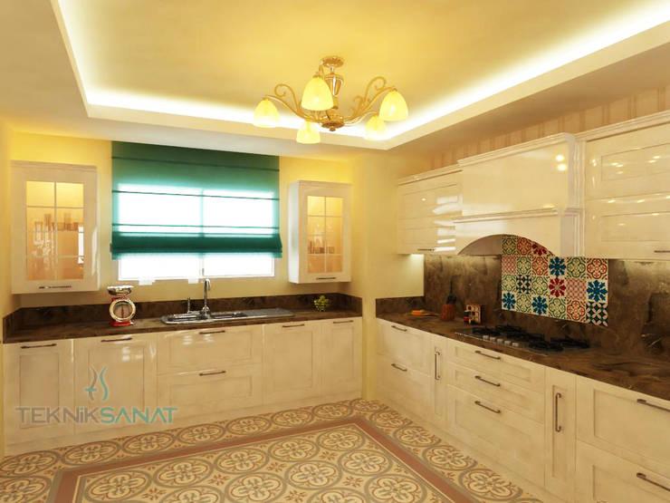 مطبخ تنفيذ TEKNİK SANAT MİMARLIK LTD. ŞTİ.