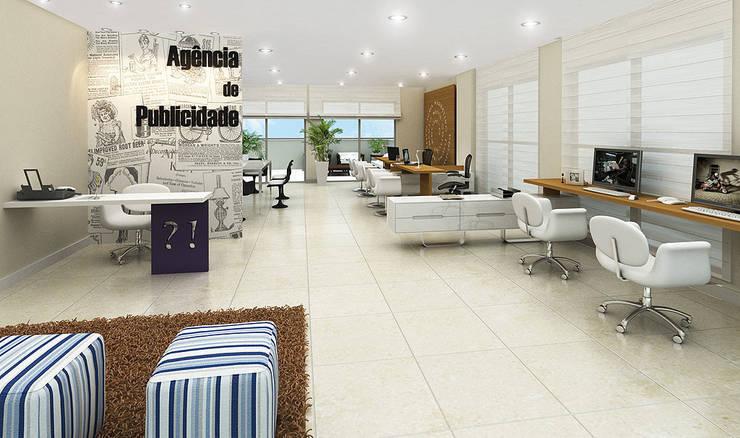 Projeto arquitetônico de área interna comum do America Office Center: Escritórios  por ArchDesign STUDIO
