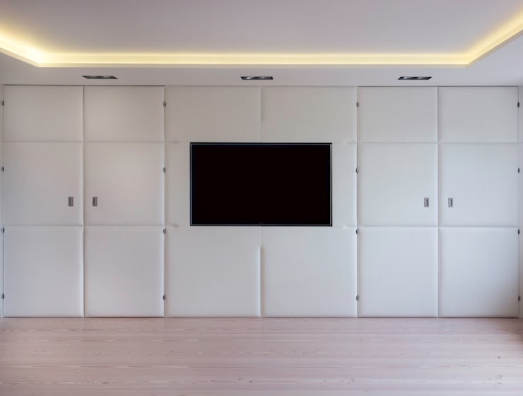 Panels in the home:  Media room by Mille Couleurs London