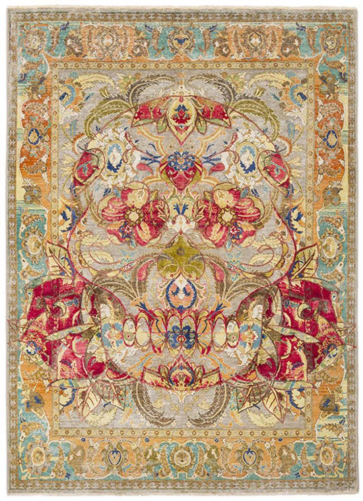 17th Century Modern Skull:  Walls & flooring by Knots Rugs