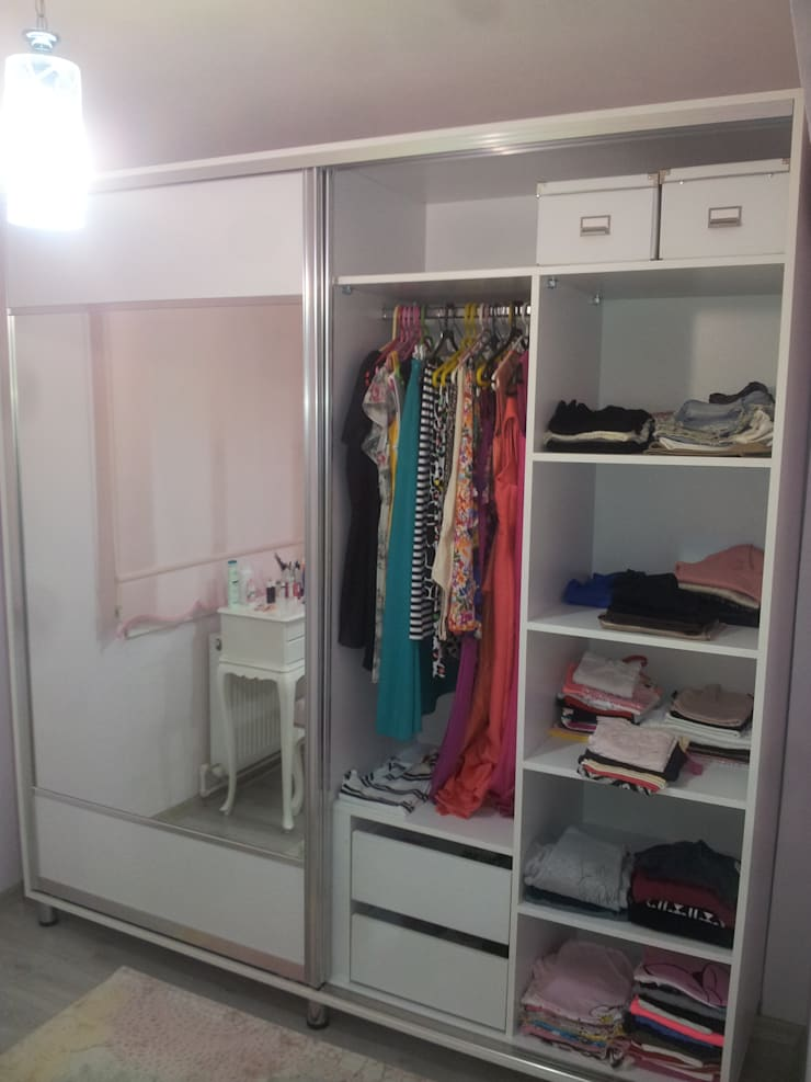 ALTİNELLER MUTFAK – YATAK ODASI RAY DOLAP:  tarz Giyinme Odası