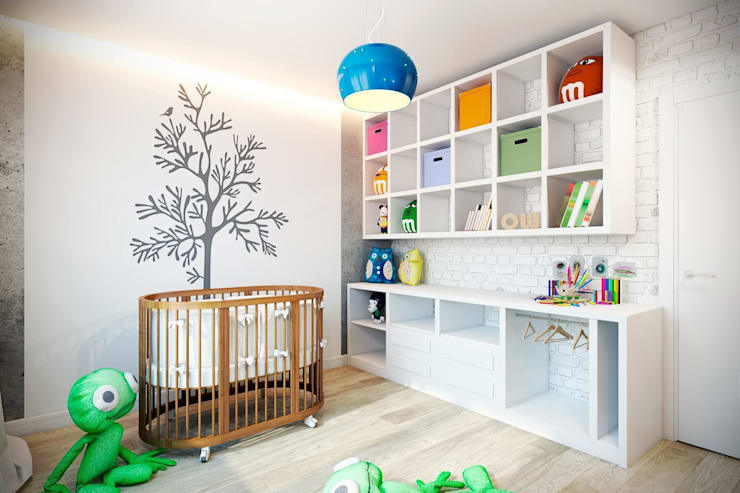 Dormitorios infantiles de estilo industrial por CO:interior