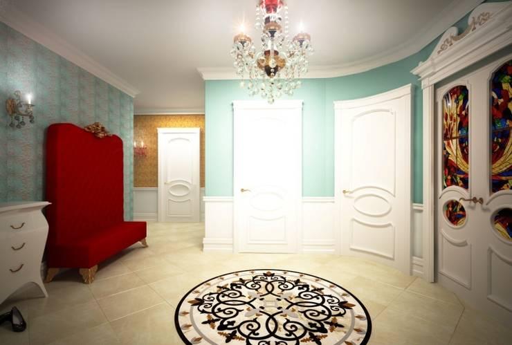 Дизайн интерьера  холла в классическом стиле: Коридор и прихожая в . Автор – Альбина Романова