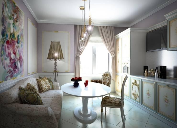 Дизайн интерьера кухни в классическом стиле: Кухни в . Автор – Альбина Романова