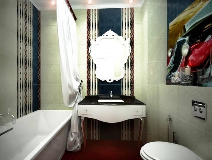 Дизайн интерьера санузла в классическом стиле: Ванные комнаты в . Автор – Альбина Романова