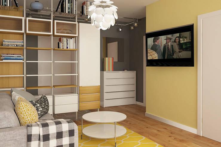 Деревянная шкатулка: Гостиная в . Автор – CO:interior,
