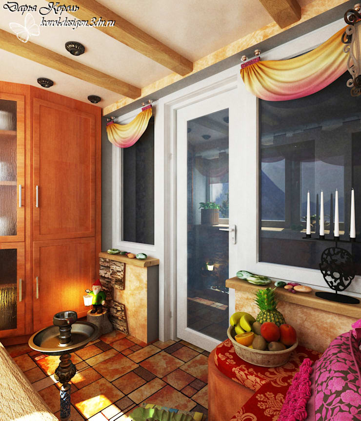 Asian style balcony, porch & terrace by Your royal design Asian