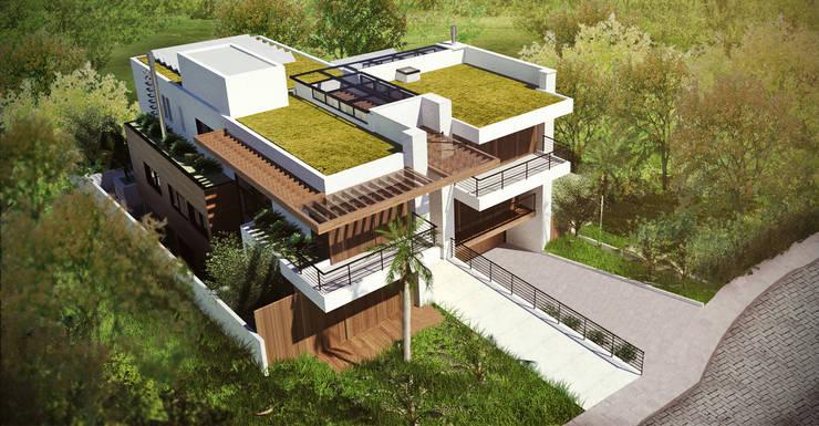 Casa MJD: Casas  por Mantovani e Rita Arquitetura,Moderno