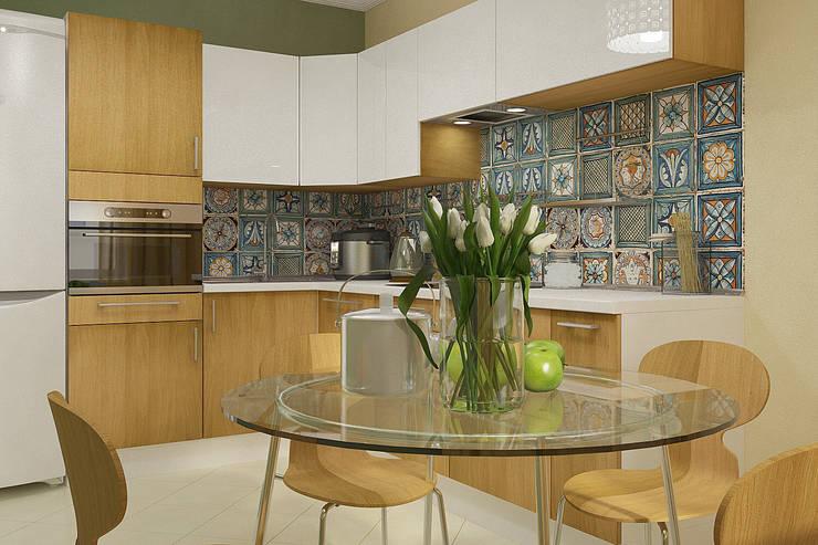 Деревянная шкатулка: Кухни в . Автор – CO:interior,