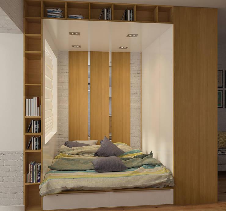 Деревянная шкатулка: Спальни в . Автор – CO:interior,