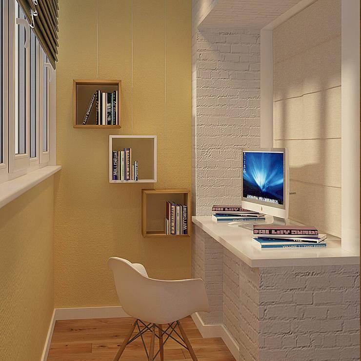 Деревянная шкатулка: Рабочие кабинеты в . Автор – CO:interior,