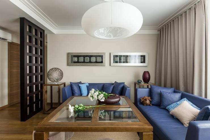 Квартира 140 кв.м. в жилом комплексе <q>Авеню 77</q>: Гостиная в . Автор – Дизайн-бюро Галины Микулик