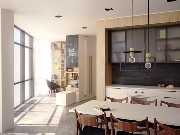 Apartament PN: styl , w kategorii Jadalnia zaprojektowany przez PB/STUDIO