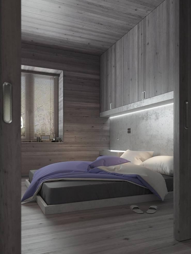 Бетон и другие катастрофы: Спальни в . Автор – FEDOROVICH Interior, Минимализм
