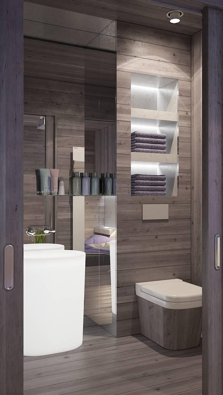 Бетон и другие катастрофы: Ванные комнаты в . Автор – FEDOROVICH Interior, Минимализм