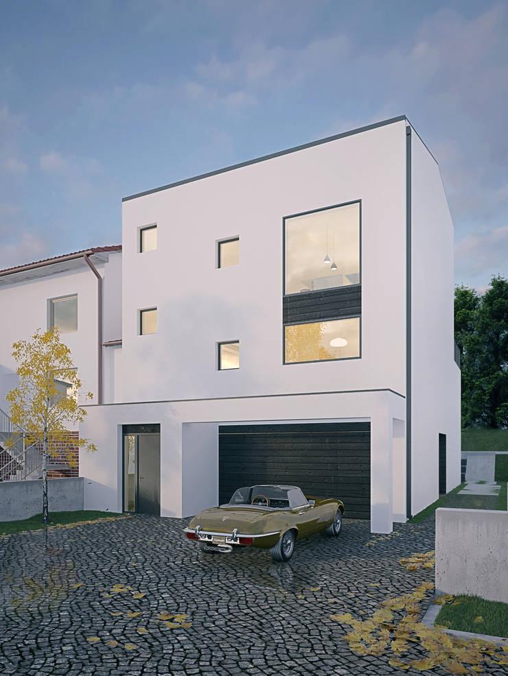 Dom OJ: styl nowoczesne, w kategorii Domy zaprojektowany przez PB/STUDIO
