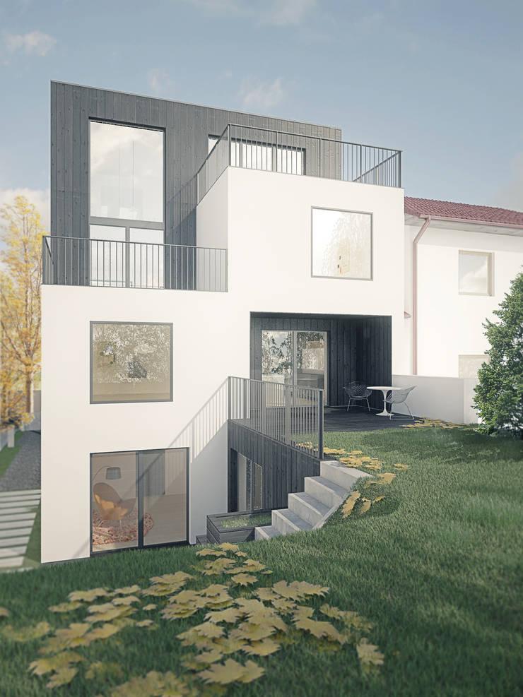 Dom OJ: styl , w kategorii Domy zaprojektowany przez PB/STUDIO,