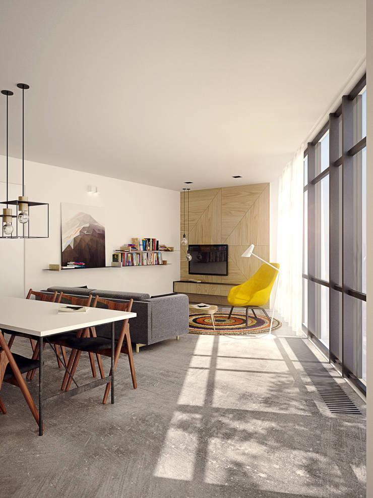 Apartament PN: styl , w kategorii Salon zaprojektowany przez PB/STUDIO