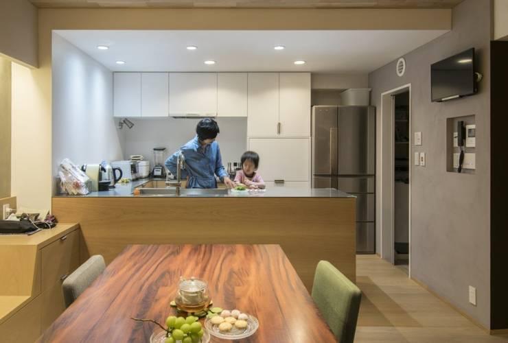 ステージのある家 すくすくリノベーション vol.4: 株式会社エキップが手掛けたキッチンです。,オリジナル