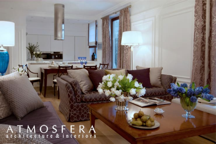 Квартира: Гостиная в . Автор – ATMOSFERA