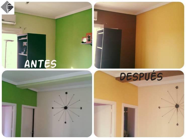 Pintura del salón:  de estilo  de Fecofer, Proyectos y Reformas