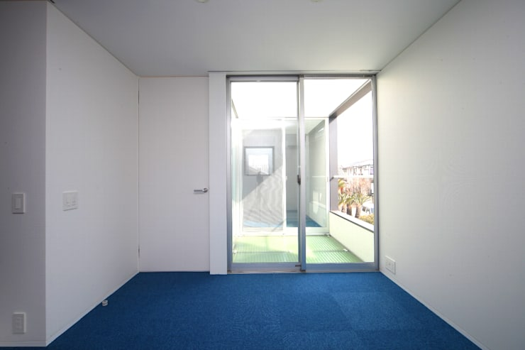HIROBA: JMA(Jiro Matsuura Architecture office)が手掛けた寝室です。