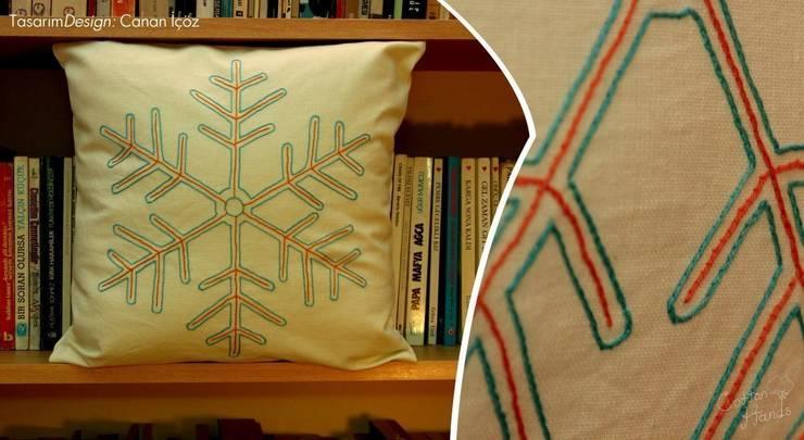 Cotton Hands – Snowflake: iskandinav tarz tarz Oturma Odası