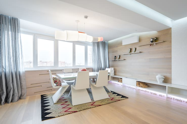 Minimalist dining room by ANNA SHEMURATOVA \ interior design Minimalist