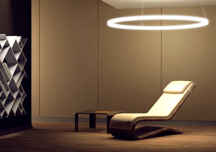 Per App steuerbare LED-Ringleuchte: modernes Spa von leuchtstoff*, Stefan Restemeier, MA Arch