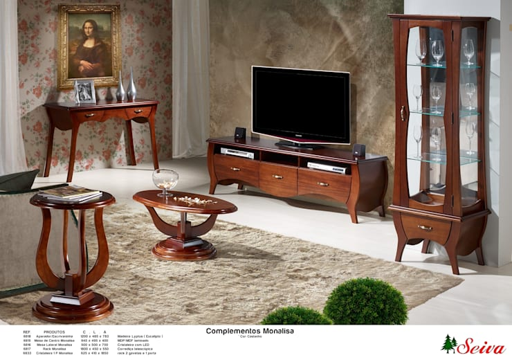 Sala de Estar / Living Room:   por Seiva Móveis,Moderno