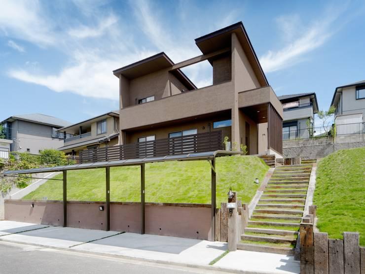 南面外観 日本家屋・アジアの家 の KEN-空間設計 和風