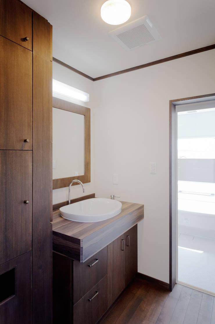 2F洗面室 和風の お風呂 の KEN-空間設計 和風