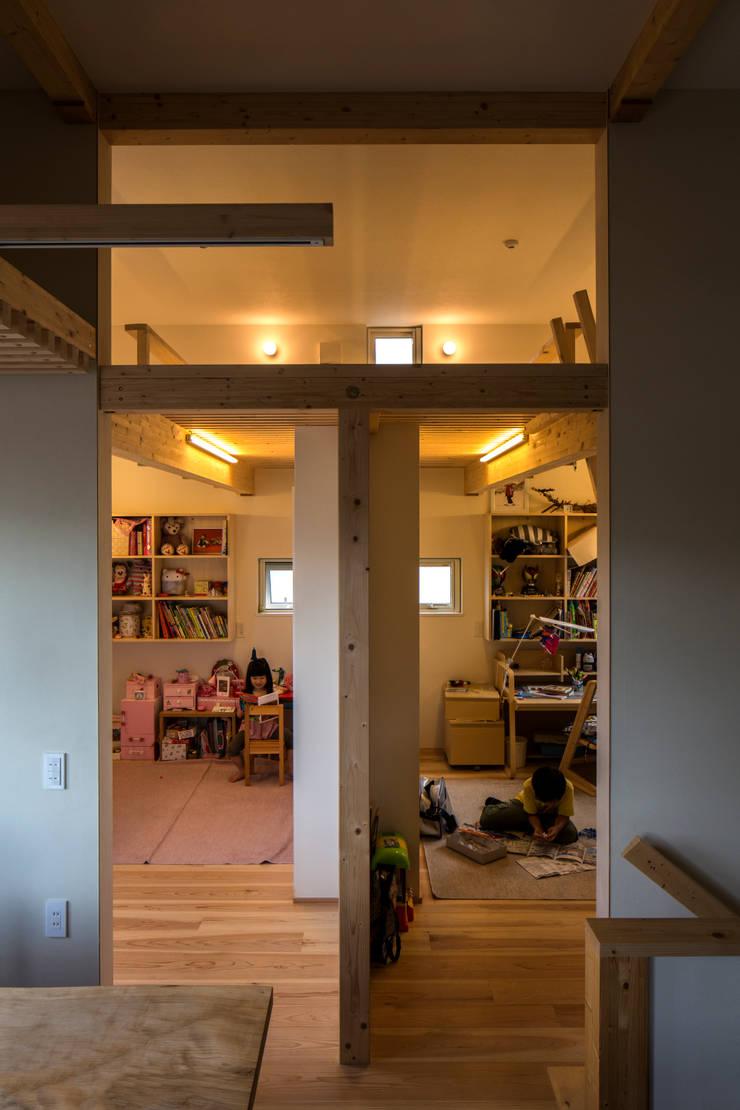 円山西町 木箱: 有限会社 伊達計画所が手掛けた子供部屋です。,