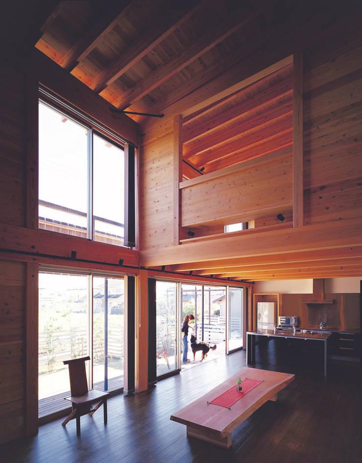 永島の家 オリジナルデザインの リビング の 縣美樹設計事務所 オリジナル