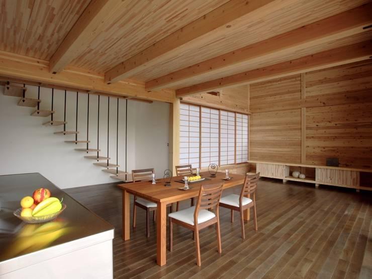 永島の家LDK オリジナルデザインの ダイニング の 縣美樹設計事務所 オリジナル