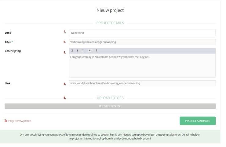 2. Hoe upload ik mijn project?:   door homify help
