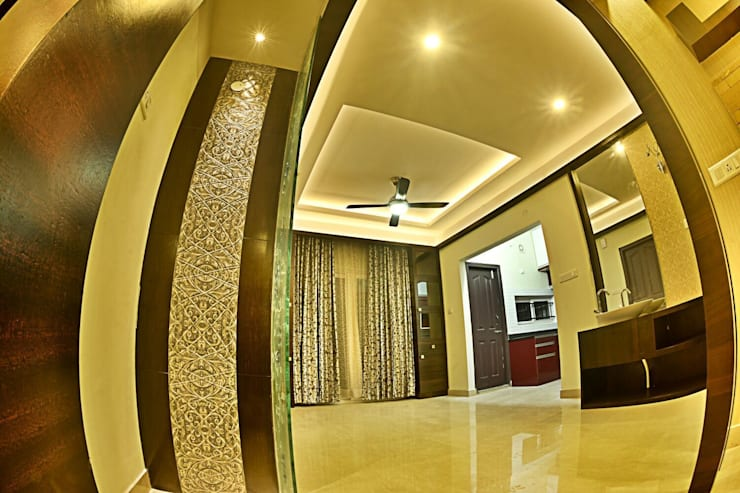 A CREATIVE AXIS INTERIORS PVT LTD PROJECT 1:  Corridor & hallway by Creative Axis Interiors Pvt. Ltd.