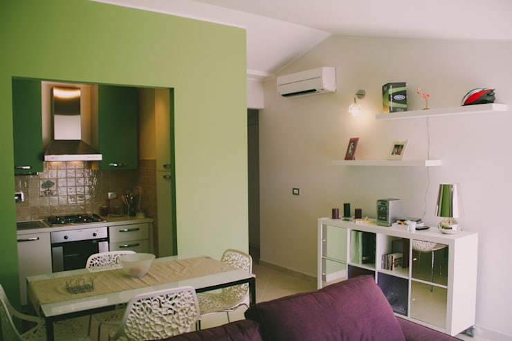 Ruang Keluarga oleh Studio di Progettazione Arch. Tiziana Franchina, Modern