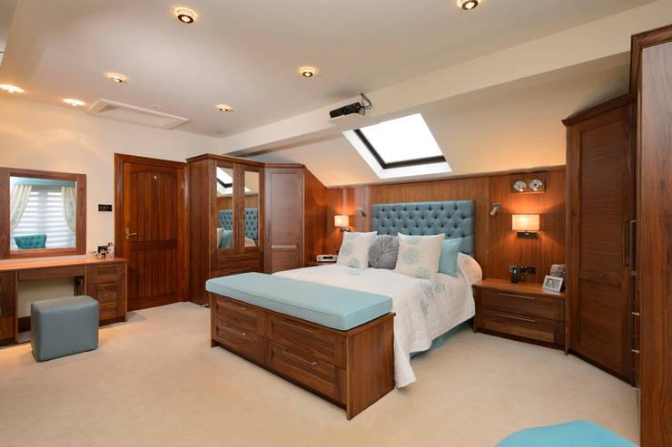 Mr & Mrs Swan's Bespoke Walnut Bedroom:  Bedroom by Room