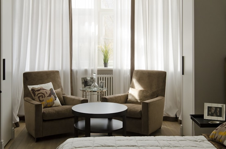 Квартира 180 кв.м. на Вернадском проспекте, Москва: Спальни в . Автор – Дизайн-бюро Галины Микулик, Эклектичный