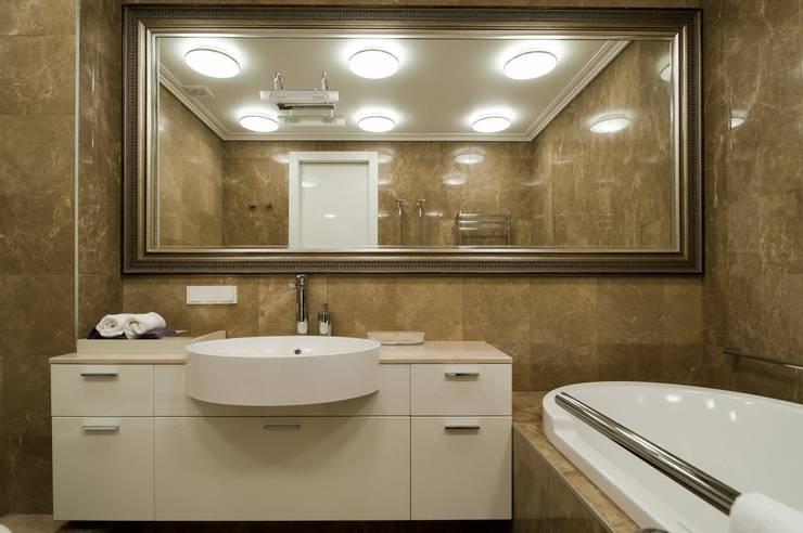 Квартира 180 кв.м. на Вернадском проспекте, Москва: Ванные комнаты в . Автор – Дизайн-бюро Галины Микулик