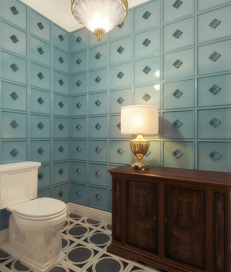 Санузел: Ванные комнаты в . Автор – Осташкина Галина