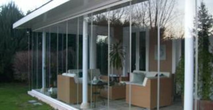 Kcc yapı dekarasyon – Kış Bahçesi cam balkon:  tarz Balkon, Veranda & Teras