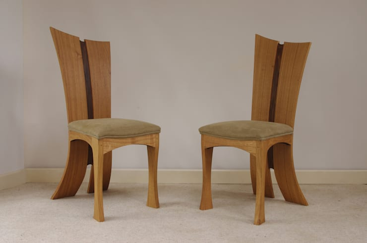 bay chairs:  Dining room by Dylan Pym designer and maker